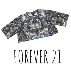 Forever 21 Diamond Graphic Crop Top - #NEW